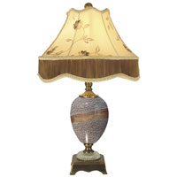 Dale Tiffany Granite Stone Table Lamp 1 Light in Antique Brass PG80332