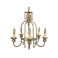 Dale Tiffany Shawnee 5 Light Chandelier in Antique Brass PH60332 photo thumbnail