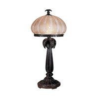 Dale Tiffany Musetta Amber Table Lamp 1 Light in Florida Bronze PT100522