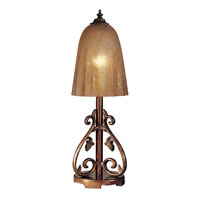 Dale Tiffany Coralie Table Lamp 1 Light in Antique Pewter/Gold PT100529