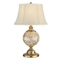Dale Tiffany Mosaic 1 Light Table Lamp in Antique Brass PT12299