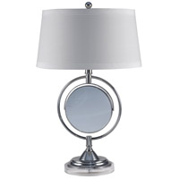 Contessa 25 inch 100 watt Chrome Table Lamp Portable Light
