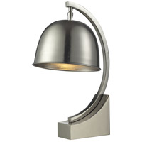 Dale Tiffany PT14313 Mulisa 16 inch 60 watt Polished Nickel Desk Lamp Portable Light