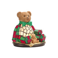 Dale Tiffany RS106 Noel Bear 1 Light 8 inch Hand Painted Night Light Wall Light photo thumbnail