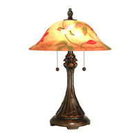 Dale Tiffany Tropical Sun Table Lamp 2 Light in Antique Golden Sand RT60278