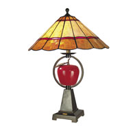 Dale Tiffany Temptation Table Lamp 2 Light in Antique Brass Plating RT60279