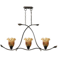 Dale Tiffany SAH15112 Luster LED 45 inch Rustic Bronze Hanging Fixture Ceiling Light