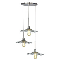 Almond 3 Light 18 inch Satin Nickel Pendant Ceiling Light