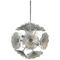 Dale Tiffany SAH16079 Almond 6 Light 15 inch Polished Chrome Pendant Ceiling Light