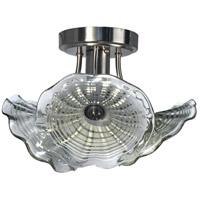 Dale Tiffany SAH16123LED Indonesia LED 12 inch Satin Nickel Semi-Flush Mount Ceiling Light