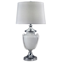 Polished Chrome Glass Table Lamps