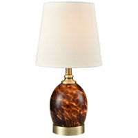 Dale Tiffany SAT16146 Bridport 16 inch 60 watt Antique Brass Accent Lamp Portable Light with Night Light
