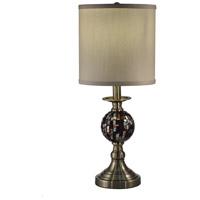 Dale Tiffany SAT16162 Springdale 21 inch 60.00 watt Antique Brass Table Lamp Portable Light
