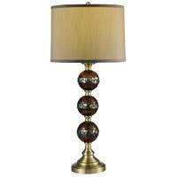 Dale Tiffany SAT16163 Springdale 32 inch 100.00 watt Antique Brass Table Lamp Portable Light