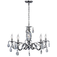 Dale Tiffany SGH16034 Clara 5 Light 28 inch Polished Chrome Chandelier Ceiling Light