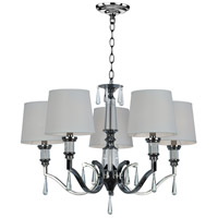 Dale Tiffany SGH16035 Eliza 5 Light 31 inch Polished Chrome Chandelier Ceiling Light