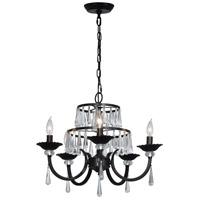 Dale Tiffany SGH16036 Daisey 5 Light 22 inch Dark Bronze Chandelier Ceiling Light