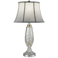 Dale Tiffany SGT16151 Claven 28 inch 150 watt Polished Chrome Table Lamp Portable Light