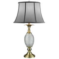 Dale Tiffany SGT17041 Pineapple 28 inch 150 watt Antique Brass Table Lamp Portable Light