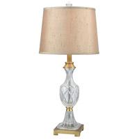 Dale Tiffany SGT17158 Jeana 27 inch 150 watt Golden Antique Brass Table Lamp Portable Light