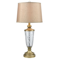 Dale Tiffany SGT17167 Cathedral 30 inch 150 watt Golden Antique Brass Table Lamp Portable Light