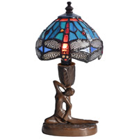 Dragonfly 10 inch 25 watt Antique Bronze Accent Lamp Portable Light