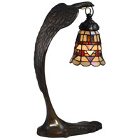 Dale Tiffany STA17001 Falcon Bronze 18 inch 40 watt Antique Brass Accent Lamp Portable Light