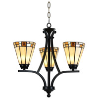Dale Tiffany STH15083LED Sundance LED 18 inch Tiffany Bronze Hanging Fixture Ceiling Light
