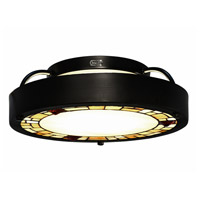 Dale Tiffany STH15087LED Quentin LED 14 inch Tiffany Bronze Semi-Flush Mount Ceiling Light