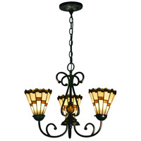 Jerome LED 18 inch Tiffany Bronze Hanging Fixture Ceiling Light
