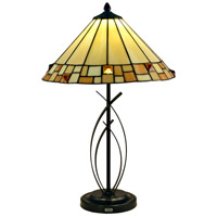 Sundance 25 inch 7.5 watt Tiffany Bronze Table Lamp Portable Light