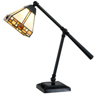 Sundance 21 inch 7.5 watt Tiffany Bronze Desk Lamp Portable Light, Pivot