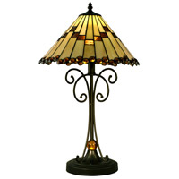 Jerome 23 inch 7.5 watt Tiffany Bronze Table Lamp Portable Light