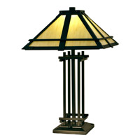 Henderson 25 inch 7.5 watt Tiffany Bronze Table Lamp Portable Light