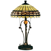 Bert 24 inch 75 watt Tiffany Bronze Table Lamp Portable Light