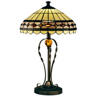 Bert 24 inch 7.5 watt Tiffany Bronze Table Lamp Portable Light