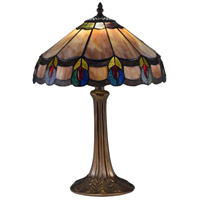 Derby 19 inch 75 watt Antique Bronze Table Lamp Portable Light