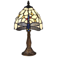 Cape Dragonfly 15 inch 60 watt Antique Bronze Accent Lamp Portable Light