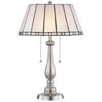 Adrianna 22 inch 75 watt Brushed Nickel Table Lamp Portable Light