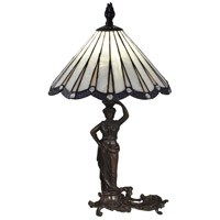 Dale Tiffany STT17057 Akira Lady 20 inch 60 watt Antique Bronze Table Lamp Portable Light thumb