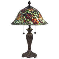 Dale Tiffany STT18147 Rose Collage 24 inch 75 watt Fieldstone Table Lamp Portable Light