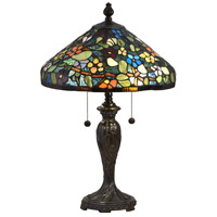 Dale Tiffany STT18148 Southern Floral 24 inch 75 watt Fieldstone Table Lamp Portable Light