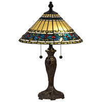 Dale Tiffany STT18149 Azusa Lily 24 inch 75 watt Fieldstone Table Lamp Portable Light