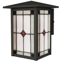 Mayan 1 Light 9 inch Mica Black Outdoor Wall Sconce