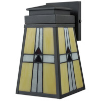 Dale Tiffany STW16138 Barkley 1 Light 11 inch Mica Black Outdoor Wall Sconce