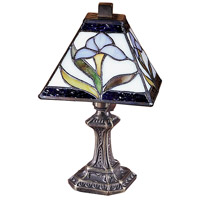 Dale Tiffany Irene Mini Accent Lamp 1 Light in Antique Brass Plating TA100353
