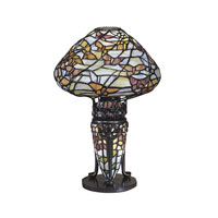 Dale Tiffany Papillion Replica Lamp 2 Light in Antique Bronze TA100602