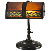 Dale Tiffany TA100682 Egyptian Desk 14 inch 60 watt Mica Bronze Accent Lamp Portable Light
