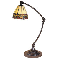 Dale Tiffany Ainsley Desk Lamp 1 Light in Mica Bronze TA100700