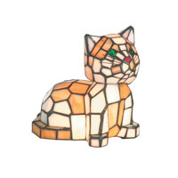 Dale Tiffany Tiger Cat Accent Lamp 2 Light TA100859